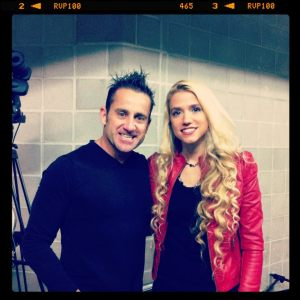 Newsboys Duncan Phillips with Soul Check TV Host Sarah Kittle