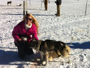 Host Sarah Kittle at Alpine Adventures Dog Sledding in Leadville, CO
