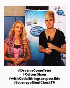 Colton Dixon with Soul Check TV Host Sarah Kittle